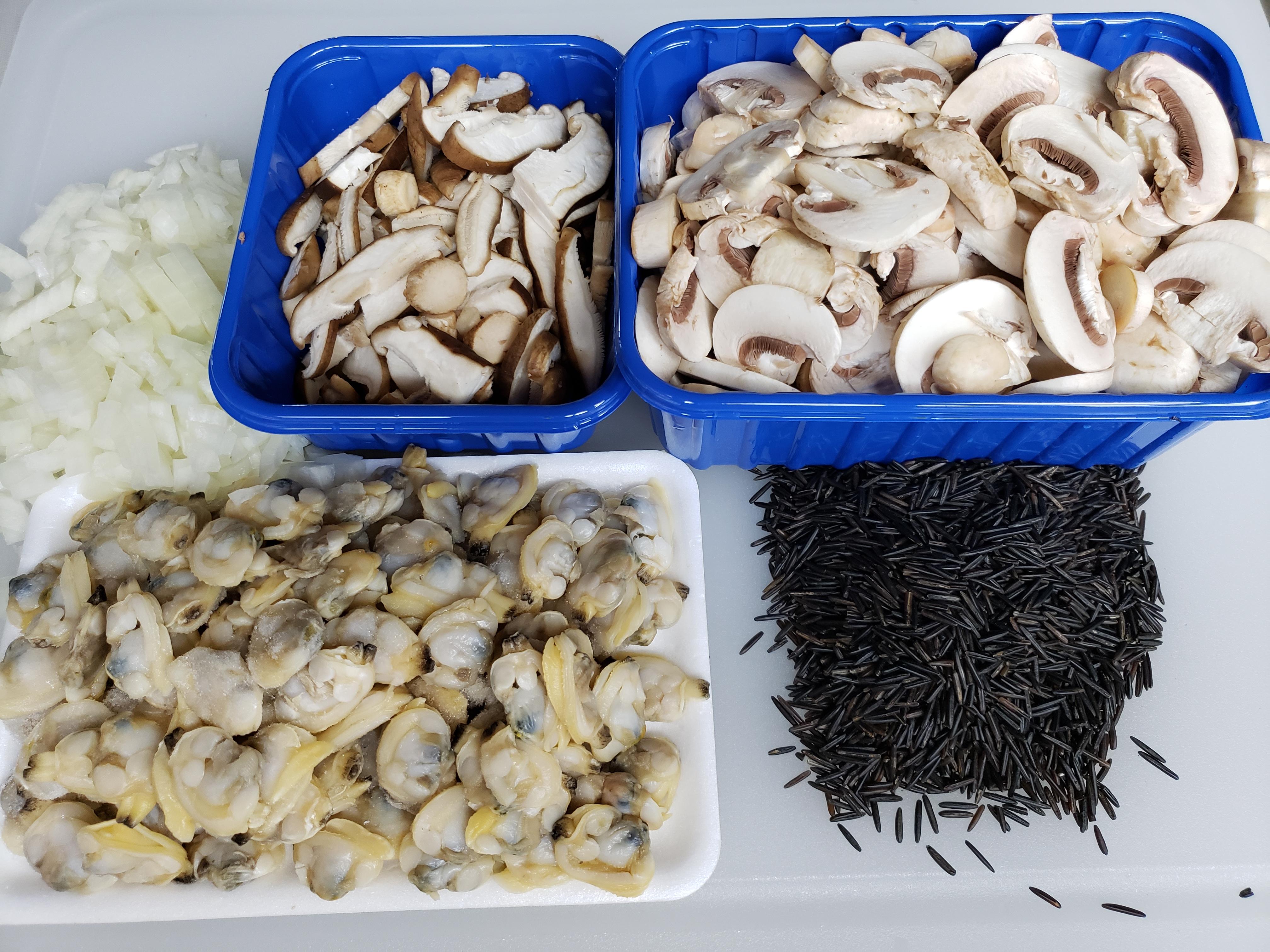 Seafood Cream of Mushroom Soup with Wild Rice
